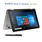 "Voyo VBook V1 10.1"" Quad-Core Win10 Tablet PC w/4GB+64GB - Silver (4G)"