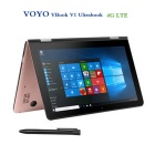 "Voyo VBook V1 10.1"" Quad-Core Win10 Tablet PC 4GB+64GB - Rose Red (4G)"