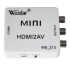 Wiistar WS_Z13 Mini HDMI to AV Converter / Adapter - White + Black