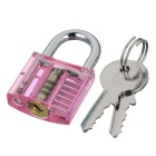 Mini Transparent Lock + 9-lockpick Training Sada nářadí -Translucent Pink