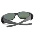 Panlees DE572 PC Frame TAC Lens Sunglasses - Matte Black + Mirror Red