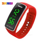 SKMEI 1119 Outdoor Sports Timing LED Watch - Red + Silver (1 * CR1225)