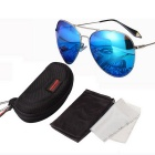 ReeDoon 2533 Multi-Face Fitted Polarized Sunglasses - Silver + Blue