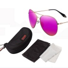 ReeDoon 2533 Multi-Face Fitted Polarized Sunglasses - Gold + Deep Pink