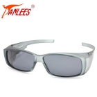 Panlees DE572 PC Frame TAC Lens Sunglasses - Matte Grey + Grey