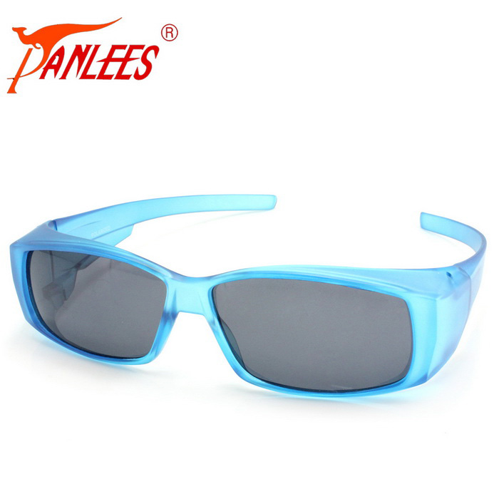 Panlees DE572 PC Quadro TAC Lens Sunglasses - Matte Blue + cinza