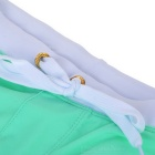 Back Zipper Pocket Design Beach Swimming Trunks - Light Green (L)