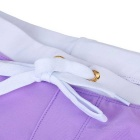Fashion Back Zipper Pocket Design Beach Swimming Trunks - Purple (M)
