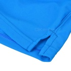 Back Zipper Pocket Design Beach Swimming Trunks - Sapphire Blue (L)
