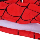 Fashionable Spider-man Style Boxer Swimming Trunks - Red + Black (L)