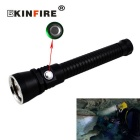 KINFIRE S21 L2 U2 Stepless Dimming Diving Flashlight - Black + Silver