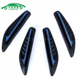 Borracha macia Portasa do carro Borda Guard - Azul + Preto (4PCS)