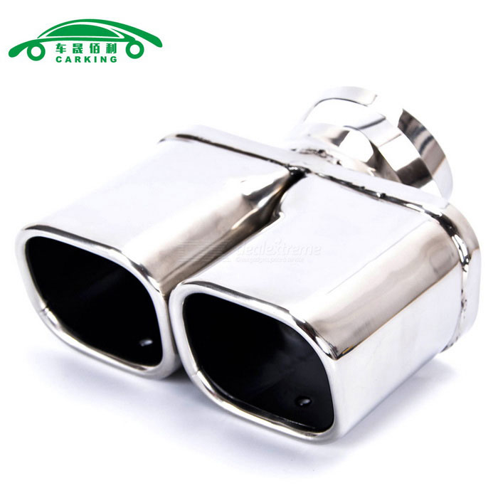 CARKING Car 63 * 56mm Double Outlet Valsede Exhaust Muffler Pipe