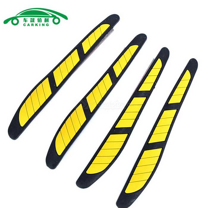 CARKING Rubber Car Door Edge Scratch Protector Guard - Black + Yellow