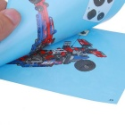 Children's Puzzle Pull-Back Sports Car Assembling Toy - Red + Blue
