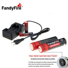 FandyFire rechargeable au lithium-ion 3.7V 2200mAh Batteries - Noir
