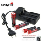 FandyFire Rechargeable Lithium-ion Battery 3.7V 2200mAh Kit - Black