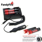 FandyFire 3.7V 2200mAh Lithium-ion Battery Kit - Black + Red