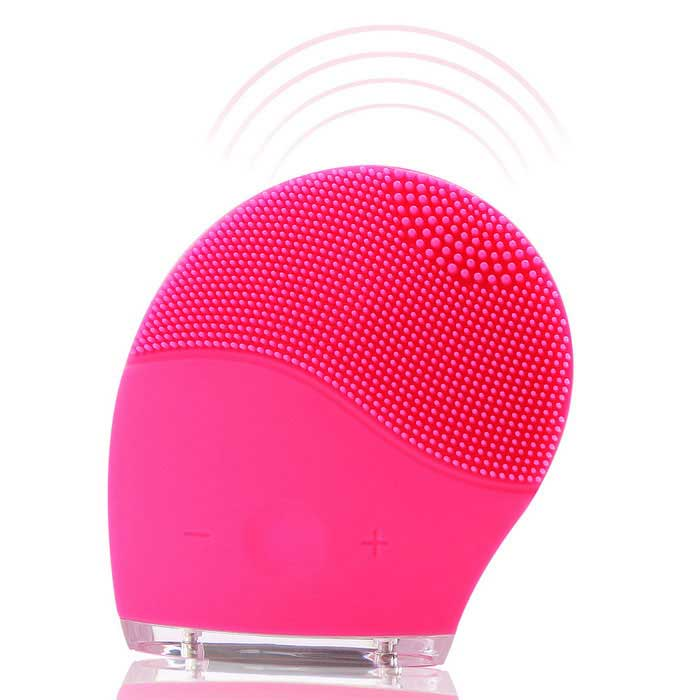 Waterproof Ultrasonic Facial Cleansing Brush Rechargeable Silicone Facial Cleaners