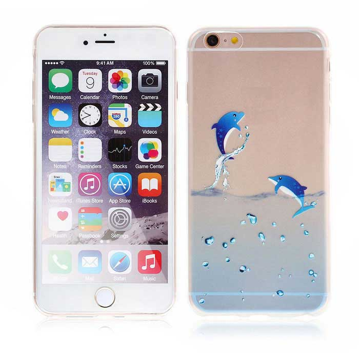 SZKINSTON TPU Protective Back Case for IPHONE 6 / 6S - Blue