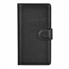 Litchi Grain PU Case w/ Stand for SONY Xperia Z5 Compact/Z5 Mi - Black
