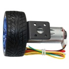12V 220RPM motor de engranaje de CC con el codificador del pasillo - plata + multi-coloreado