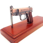 Laser Toy Pistol Shape Butane Jet Lighter - Bronze + Brown