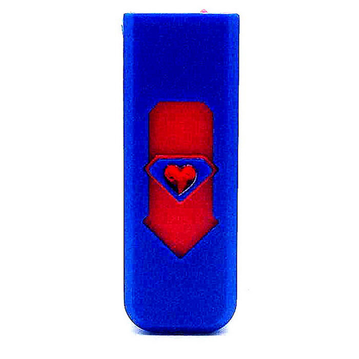 Creative USB Rechargeable Electronic Cigarette Lighter - Blue