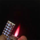 SYS0121 Classic Cube Style Square Shaped Gas Lighter - Silver
