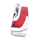 Authentic High Quality Multi-purpose Butane Jet Lighter - Red + Silver