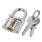 Mini Transparent Schloss + 9-Lockpick Trainings-Werkzeug-Set -Translucent