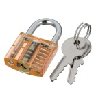 Mini Trava Transparente + 9-Lockpick Training Tool Set - Orange + Preto