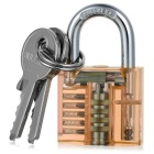 Mini Transparent Practice Padlock Lock Pick Locksmith Tools - Orange