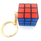 Rubik's Magic Cube w / Keychain - Wit + Rood + Multicolor
