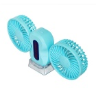 Personal Fan 3 Modes Mini USB 2.0 Dual Head Table Fans - Blue