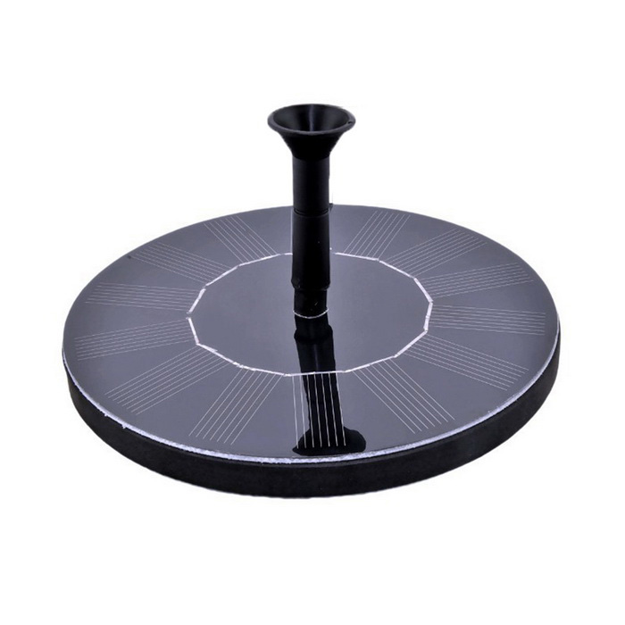 Solar Powered Bird Baño de Bomba para Fuentes - Negro