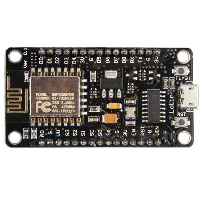 NodeMcu Lua CH340G ESP8266 Wi-Fi Internet Development Board ModuleBoards &amp; Shields<br>Form ColorBlackModelN/AQuantity1 DX.PCM.Model.AttributeModel.UnitMaterialFR4English Manual / SpecYesDownload Link   http://www.nodemcu.com/index_en.htmlPacking List1 * Board module<br>