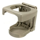 ZIQIAO Universal Collapsible Beverage Shelf Cup Bracket - Beige