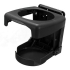 ZIQIAO Universal Collapsible Beverage Shelf Cup Bracket - Black