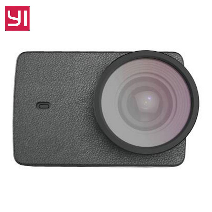 Xiaomi PU Leather Case with UV Lens Cover for Xiaoyi II  -  Black