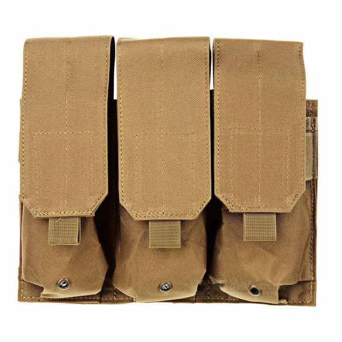Outdoor Military 3-Pocket Cartridge Holder for M4 - Deep Brown