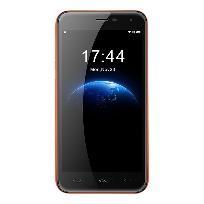 HOMTOM HT3 5 IPS HD Quad-Core Android 5.1 3G Smartphone - OrangeAndroid Phones<br>Form  ColorOrangeRAM1GBROM8GBBrandOthers,(HOMTOM)ModelHT3Quantity1 DX.PCM.Model.AttributeModel.UnitMaterialPlasticShade Of ColorOrangeTypeBrand NewPower AdapterEU PlugNetwork Type2G,3GBand Details2G: GSM 850/900/1800/1900MHz  3G: WCDMA 900/2100MHzData TransferGPRSNetwork ConversationOne-Party Conversation OnlyWLAN Wi-Fi 802.11 a,b,g,nSIM Card Quantity2Network StandbyDual Network StandbyGPSYesNFCNoBluetooth VersionBluetooth V4.0Operating SystemAndroid 5.1CPU Processor1.3GHzCPU Core QuantityQuad-CoreLanguageEnglish, Spanish, Portuguese (Brazil), Portuguese (Portugal), Italian, German, French, Russian, Arabic, Malay, Thai, Greek, Ukrainian, Croatian, Czech, Simplified Chinese, Traditional Chinese etc.Available Memory4GBMemory CardSupportMax. Expansion Supported64GBSize Range5.0~5.4 inchesTouch Screen TypeCapacitive ScreenScreen Resolution1280*720Screen Size ( inches)5.0Screen Edge2.5D Curved EdgeCamera Pixel5.0MPFront Camera Pixels2.0 M DX.PCM.Model.AttributeModel.UnitFlashYesTalk Time12 DX.PCM.Model.AttributeModel.UnitStandby Time200 DX.PCM.Model.AttributeModel.UnitBattery Capacity3000 DX.PCM.Model.AttributeModel.UnitBattery ModeReplacementfeaturesWi-Fi,GPS,FM,BluetoothSensorG-sensor,Proximity,Accelerometer,GestureWaterproof LevelIPX0 (Not Protected)Shock-proofYesI/O InterfaceMicro USB,3.5mmRadio TunerFMCertificationFCCReference Websites== Will this mobile phone work with a certain mobile carrier of yours? ==Packing List1 * Cellphone1 * EU Plug Power Adapter (100~240V, 50/60Hz)1 * Micro USB Cable (100cm)1 * User Manual - English<br>