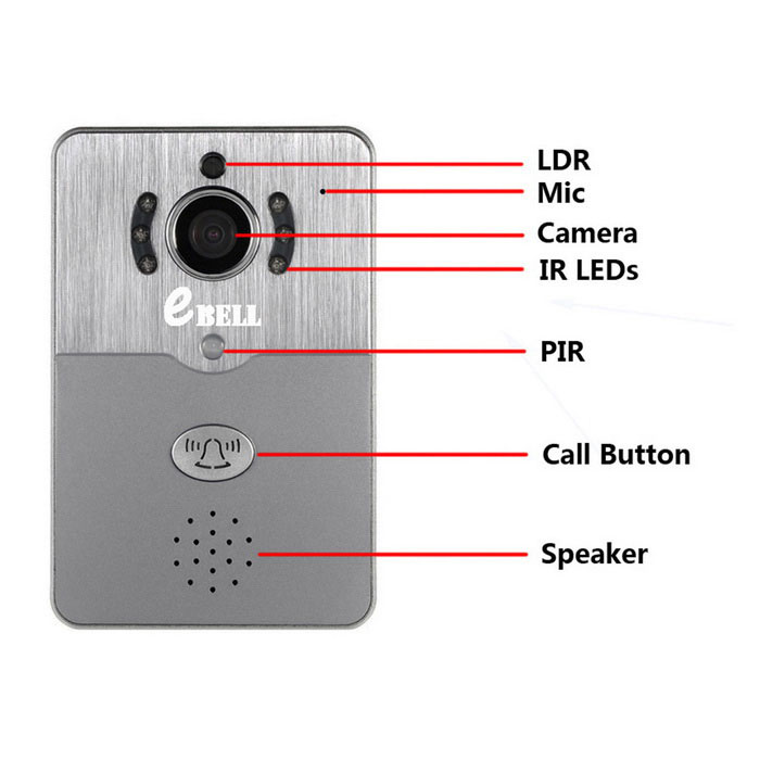 Ebell Hd Wireless Video Doorbell Camera W Indoor Chime Grey White Free Shipping Dealextreme
