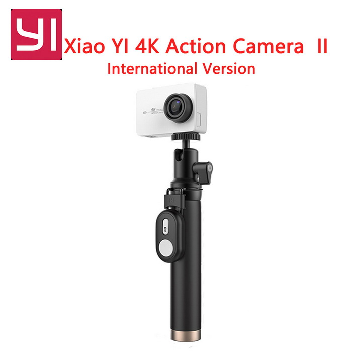 Xiaomi Yi II Wi-Fi 4K 2.19 Touch Sports Action Camera 2 - WhiteSport Cameras<br>Form  ColorWHITE(Whith YI Travel Kit+Remote)Shade Of ColorWhiteMaterialabsQuantity1 DX.PCM.Model.AttributeModel.UnitImage SensorCMOSImage Sensor SizeOthers,IMX377Anti-ShakeYesFocal Distance2.68 DX.PCM.Model.AttributeModel.UnitFocusing RangeF = 2.68mmAperture2.8Wide Angle155DegreesEffective Pixels4KMax. Pixels4K DX.PCM.Model.AttributeModel.UnitImagesJPEGStill Image Resolution1200mVideoMP4,Others,H.264Video Resolution4KVideo Frame Rate30Audio SystemOthersCycle RecordYesISONoExposure CompensationNoSupports Card TypeTFSupports Max. Capacity64 DX.PCM.Model.AttributeModel.UnitBuilt-in Memory / RAMNoInput InterfaceMicOutput InterfaceMicro USBLCD ScreenYesScreen TypeTFTScreen Size2.19 DX.PCM.Model.AttributeModel.UnitScreen Resolution169Battery Measured Capacity 1300 DX.PCM.Model.AttributeModel.UnitNominal Capacity1400 DX.PCM.Model.AttributeModel.UnitBattery TypeLi-ion batteryBattery included or notYesBattery Quantity1 DX.PCM.Model.AttributeModel.UnitWater ResistantNOSupported LanguagesEnglishPacking List1 * Xiaomi Yi II 4K Action camera1 * Bluetooth remote control1 * Selfie monopod (71cm)1 * Battery 1 * Data cable (20cm)1 * User manual (English)<br>