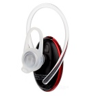 Mini Wireless Bluetooth V4.0 Ear-hook Sport Earphone - Black + Red