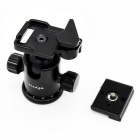 Veledge K-sarja Auminium Alloy 0 Ball Head - Musta