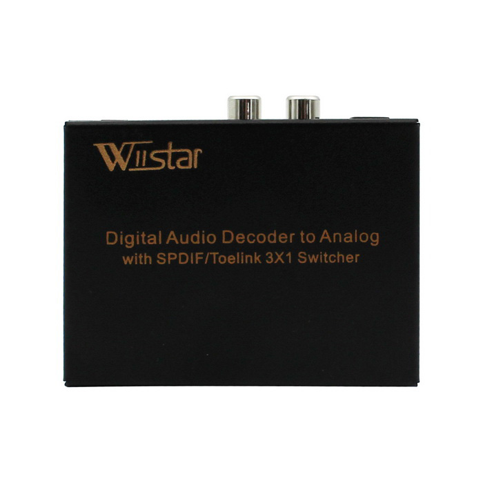 Wiistar WS_QT31R Digital to Analog Audio Decoder with 3 * 1 Switch
