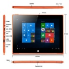 "Ioision W10(IC-T01) 10.1"" Win10 Tablet w/ 2GB RAM, 32GB ROM - Orange"