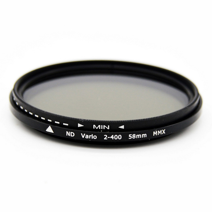 Veledge 58mm Adjustable Neutral Density ND Slim Lens Filter ND2 to ND4