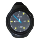 X3 Android 4.4.2 OS Round Touch Screen 3G SmartWatch Phone - Black